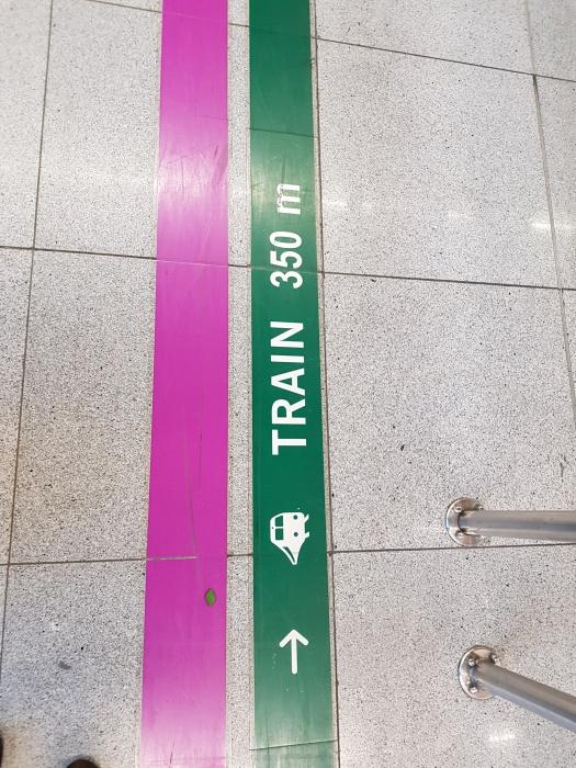 空港から電車までの道