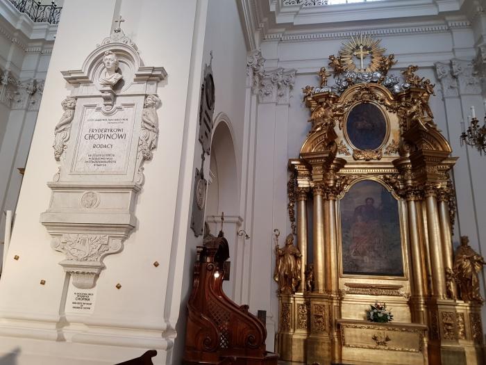 聖十字架教会のショパンの心臓